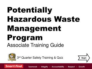 Potentially Hazardous Waste Management Program