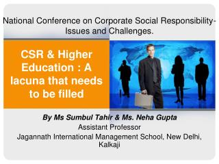 CSR & Higher Education : A lacuna that needs to be filled