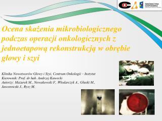 Klinika Nowotworów Głowy i Szyi, Centrum Onkologii – Instytut