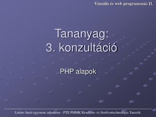 PHP alapok