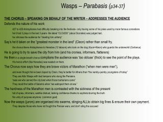 Wasps –  Parabasis ( p34-37 )