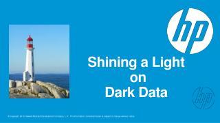 Shining a Light  on Dark Data