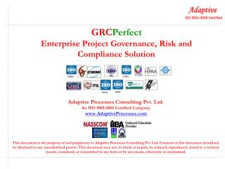 GRC Perfect Enterprise Project Governance, Risk and Compliance Solution