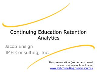 Continuing Education Retention Analytics