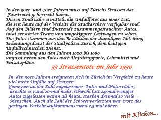 In den 30er- und 40er-Jahren muss auf Zürichs Strassen das  Faustrecht geherrscht haben.