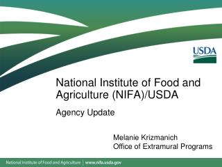 National Institute of Food and Agriculture (NIFA)/USDA
