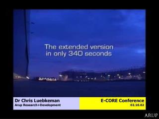 Dr Chris Luebkeman Arup Research+Development