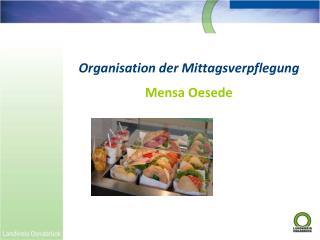 Organisation der Mittagsverpflegung