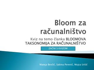 Bloom za računalništvo