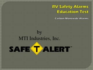 RV Safety Alarms Education Test Carbon Monoxide Alarms