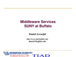 Middleware Services  SUNY at Buffalo