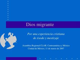 Dios migrante