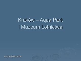 Kraków – Aqua Park i Muzeum Lotnictwa