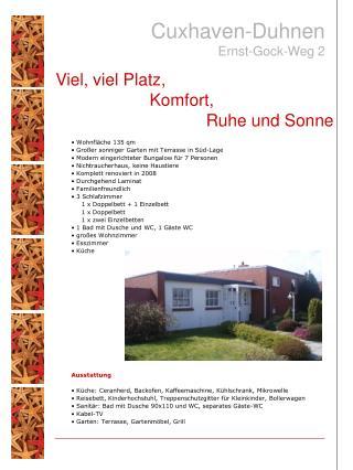 Wohnfl�che 135 qm  Gro�er sonniger Garten mit Terrasse in S�d-Lage