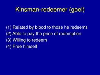 Kinsman-redeemer (goel)