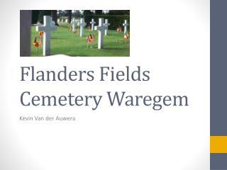 Flanders Fields Cemetery Waregem