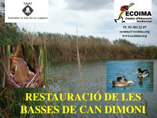 RESTAURACIÓ DE LES BASSES DE CAN DIMONI