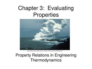 Chapter 3:  Evaluating Properties