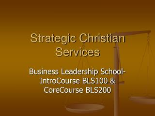 Strategic Christian Services