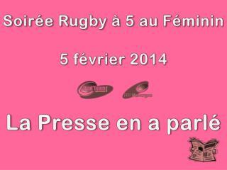 Soirée Rugby à 5 au Féminin