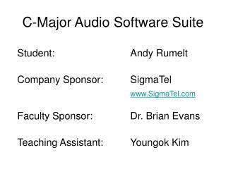 C-Major Audio Software Suite