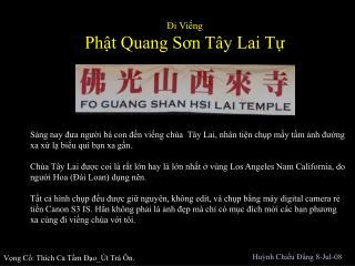 ?i Vi?ng  Ph?t Quang S?n T�y Lai T?