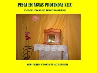 PESCA EM ÁGUAS PROFUNDAS XLIX EVANGELIZAÇÃO NO TERCEIRO MILÊNIO