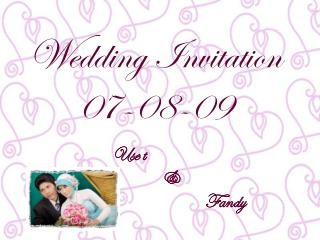 Wedding Invitation 07-08-09