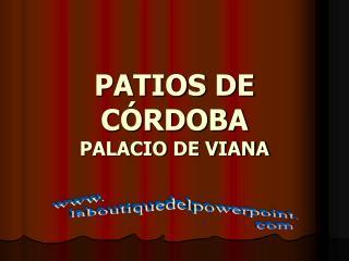 PATIOS DE CÓRDOBA PALACIO DE VIANA