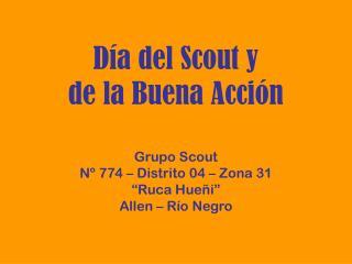 Día del Scout y de la Buena Acción