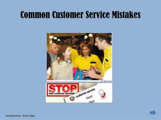 Common Customer Service Mistakes