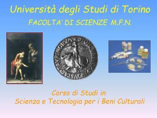 Corso di Studi in  Scienza e Tecnologia per i Beni Culturali