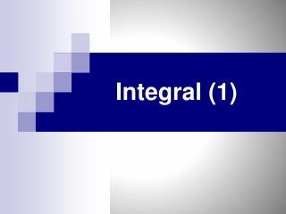 Integral (1)