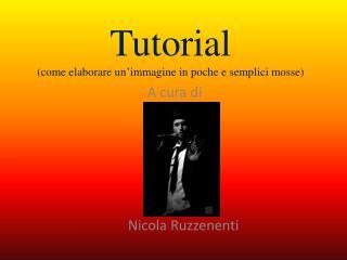 Tutorial (come elaborare un'immagine in poche e semplici mosse)