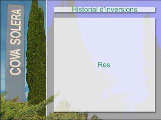 Historial d'inversions