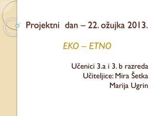 Projektni  dan – 22. ožujka 2013.