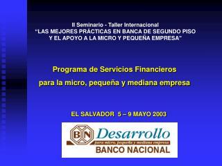 EL SALVADOR  5 – 9 MAYO 2003