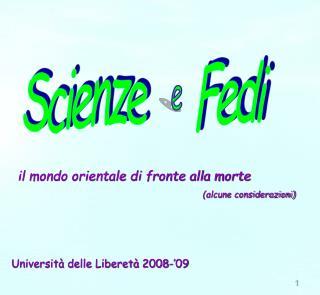 Scienze      Fedi