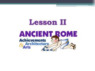 Lesson II