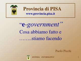 Provincia di PISA provincia.pisa.it