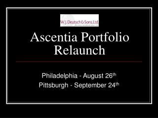 Ascentia Portfolio Relaunch