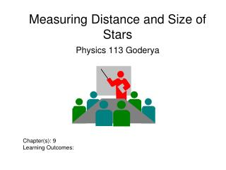 Measuring Distance and Size of Stars