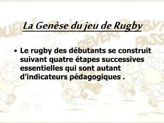 La Genèse du jeu de Rugby