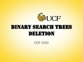 Binary Search Trees  Deletion