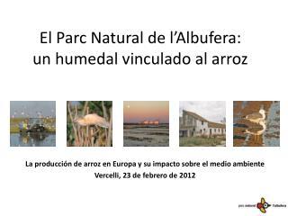 El Parc Natural de l'Albufera:  un humedal vinculado al arroz