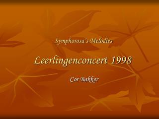 Leerlingenconcert 1998