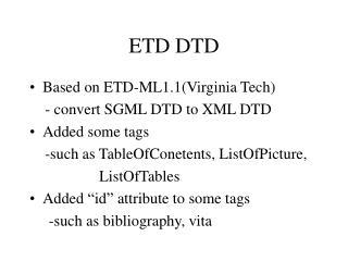 ETD DTD