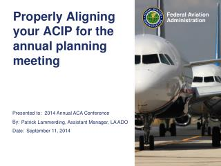 Properly Aligning your ACIP for the annual planning meeting