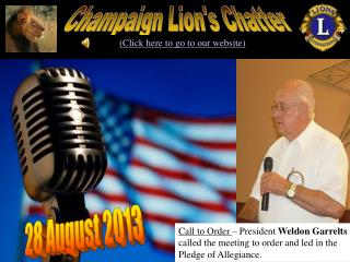 Champaign Lion's Chatter