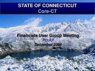 STATE OF CONNECTICUT Core-CT